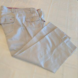Mossimo Khaki Capri Pants with Pink Accents